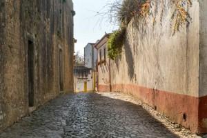 ruas de óbidos portugal medieval casas